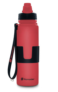 Nomader Collapsible Water Bottle (Red) - 2 pack