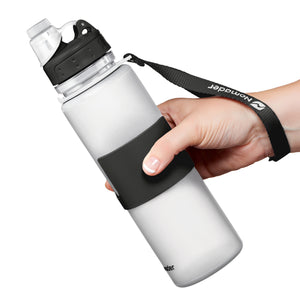 Nomader Collapsible Water Bottle (White) - 2 pack