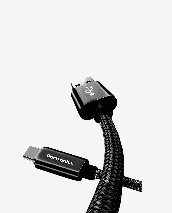 Portronics Konnect Pro POR-793 Type-C Cable - 3.9 Feet (1.2 Meters)