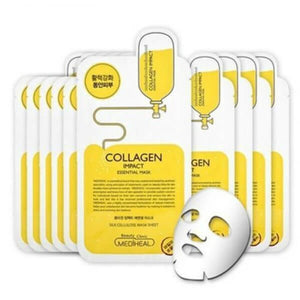 mediheal collagen-impact essential mask - 10 sheets