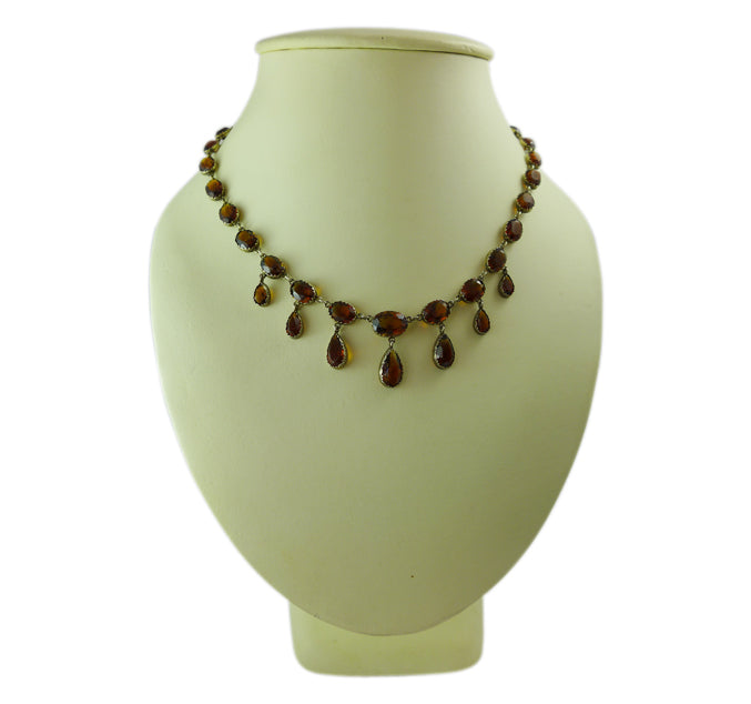 1920s Citrine riviere necklace