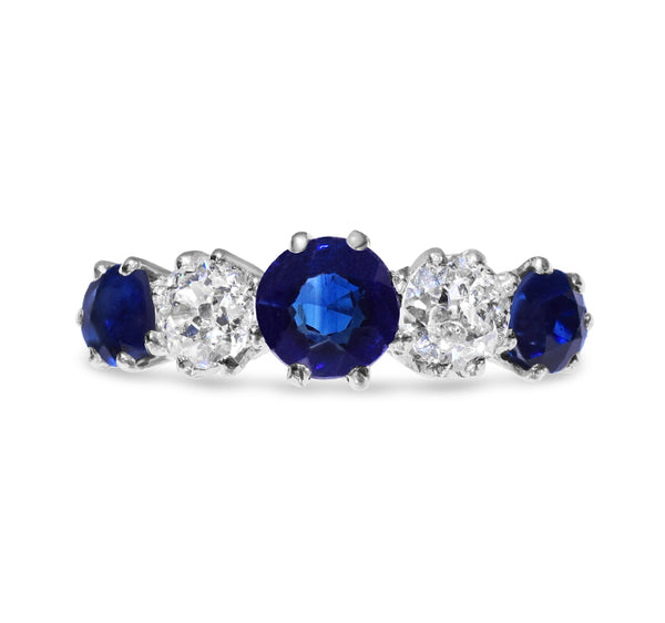 1940s Sapphire and Diamond Ring