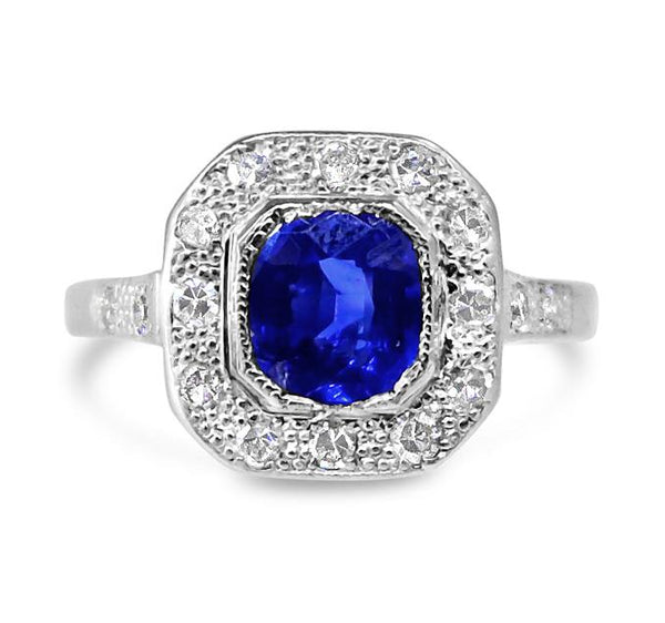 1950s Sapphire and Diamond Ring