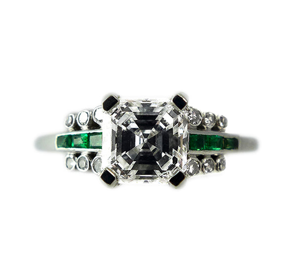 Art_Deco_Asscher Cut_Diamond_Ring