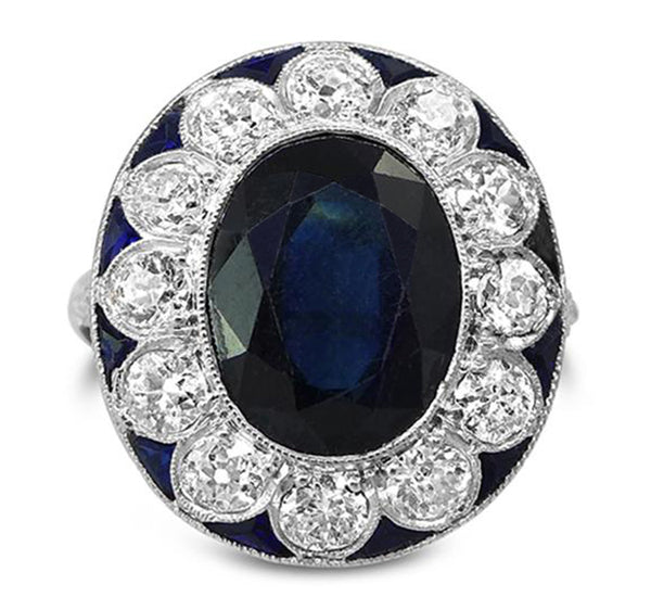 French Art Deco Sapphire Ring