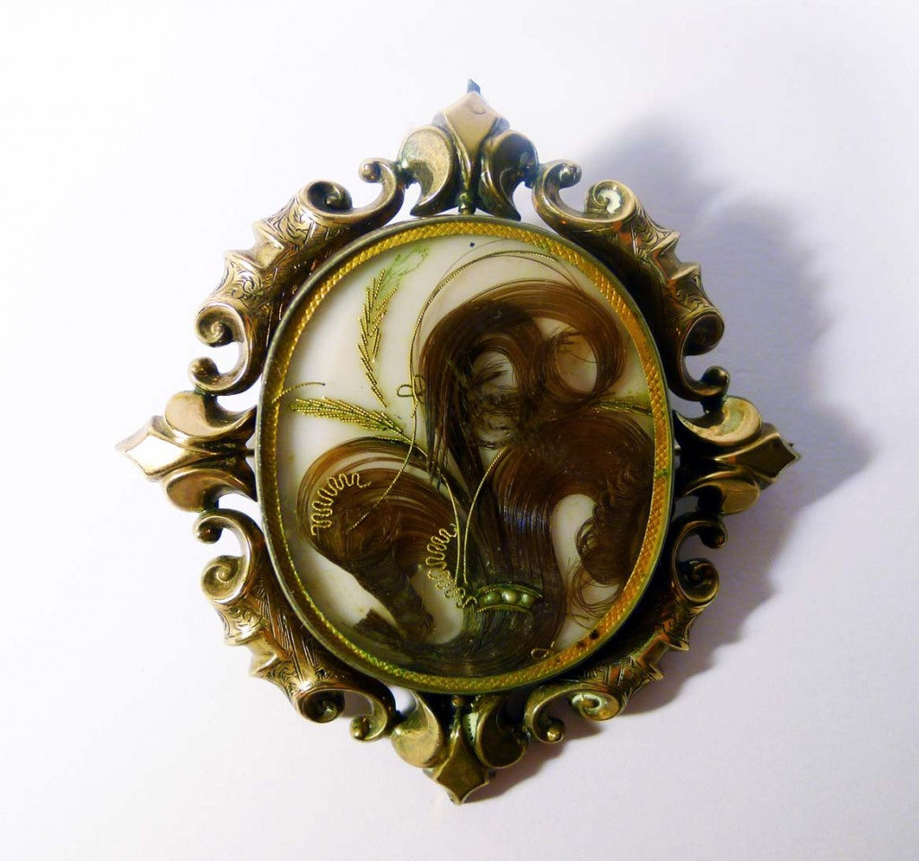 Victorian 9ct Hair Fleur-De-Lis Locket