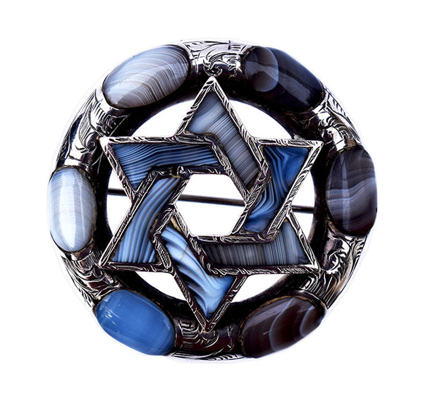 Victorian_Scottish_Blue_Agate_Star_of_David_Brooch