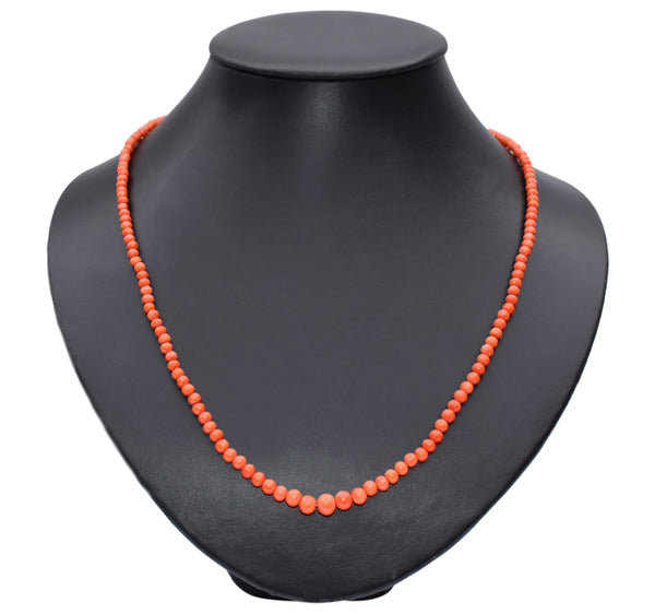 Victorian coral 9ct gold necklace