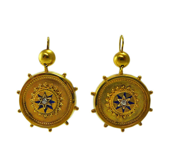 Victorian gold earrings