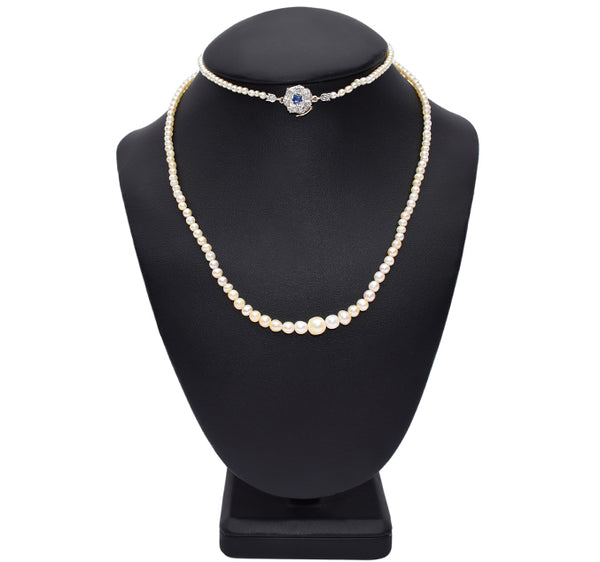 Victorian natural pearl necklace