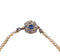 Victorian natural pearl old mine cut diamond clasp