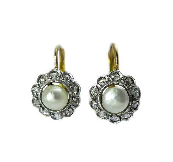 Victorian Natural Pearl Earrings
