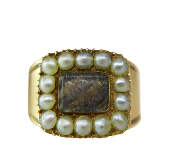 Victorian Pearl Mourning Ring