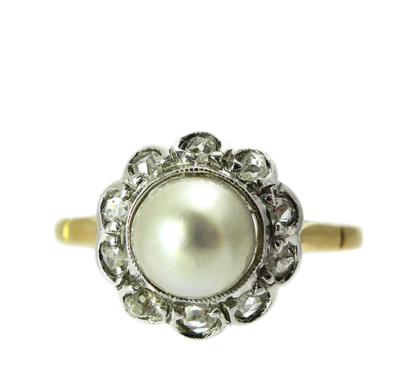 Victorian Natural Pearl Ring