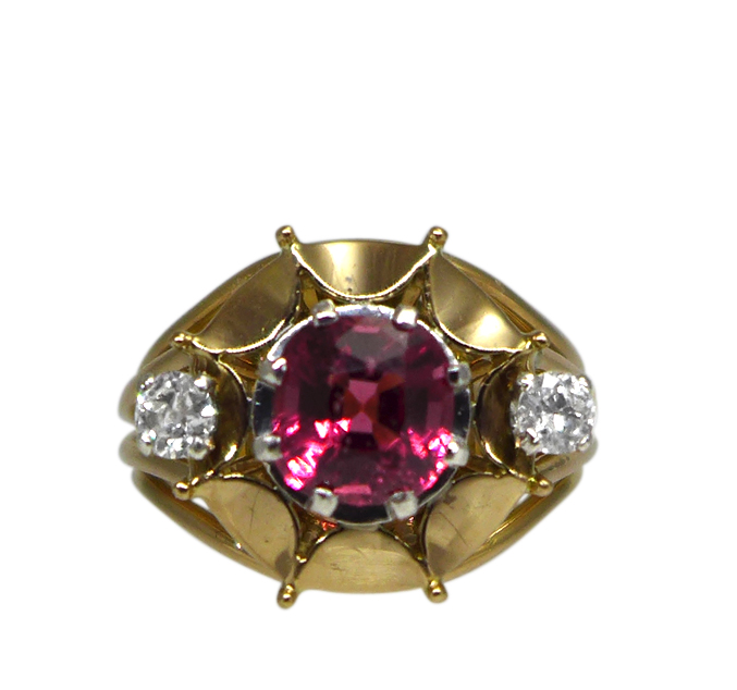 1940s Mauboussin Paris Spinel Ring