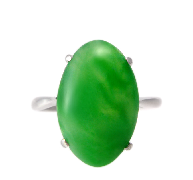 1930s Platinum Jade Ring