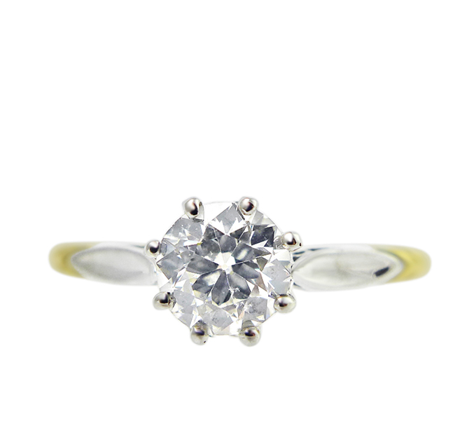 1940s Solitaire Diamond Ring
