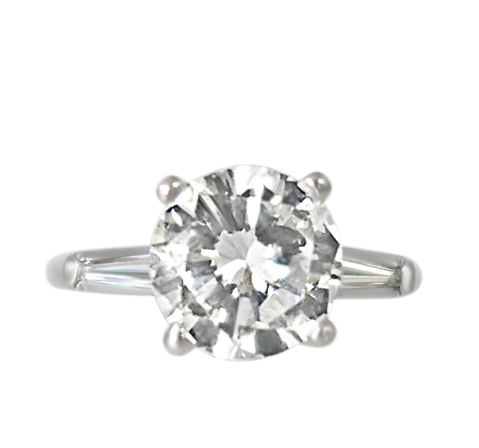 1940s Platinum 1.95ct Diamond Ring