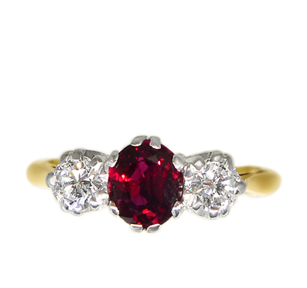 1950s Oval Ruby Ring