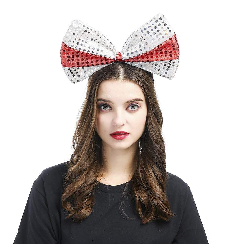 3 Colors Oversized Bow Sequined Headband
