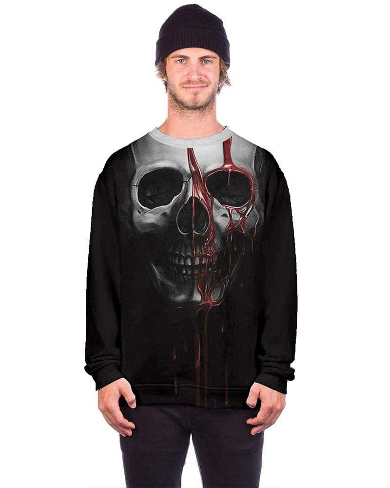 Exlura Halloween 3D Pullover Digital Print Sweater