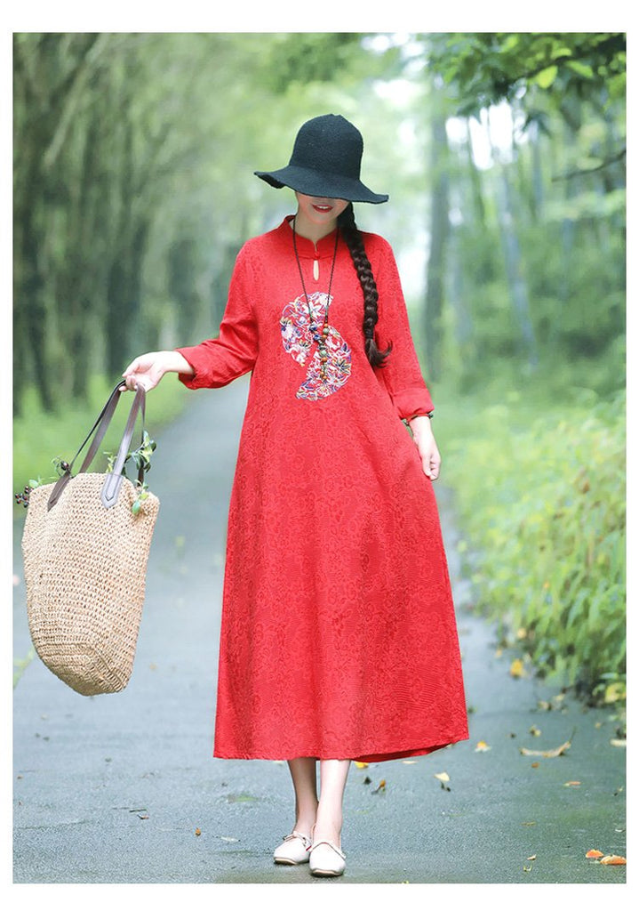 Vintage Embroidered Traditional Dress