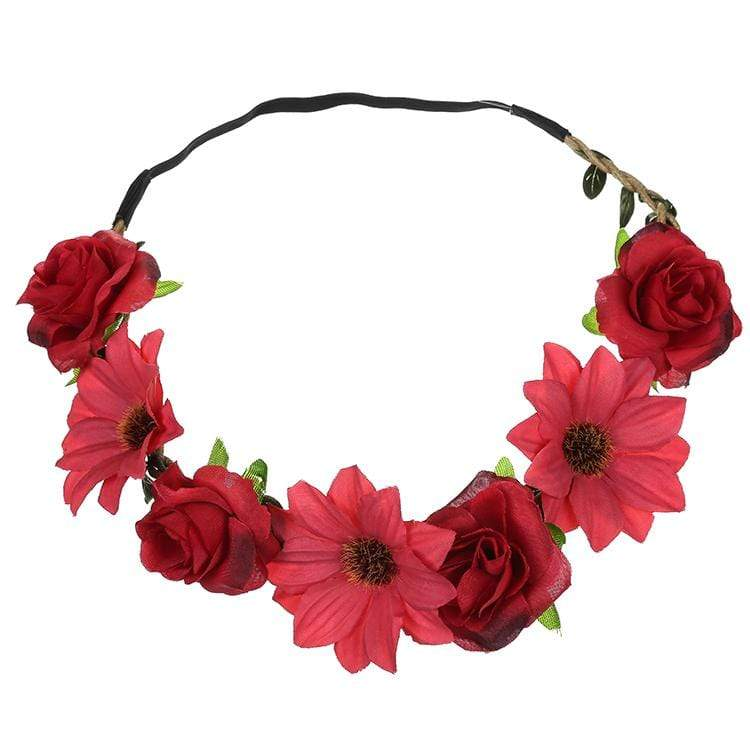 Sunflower Rose Flower Hair Band Seaside Holiday