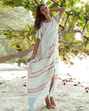 Cotton And Linen Split Bohemian Dress