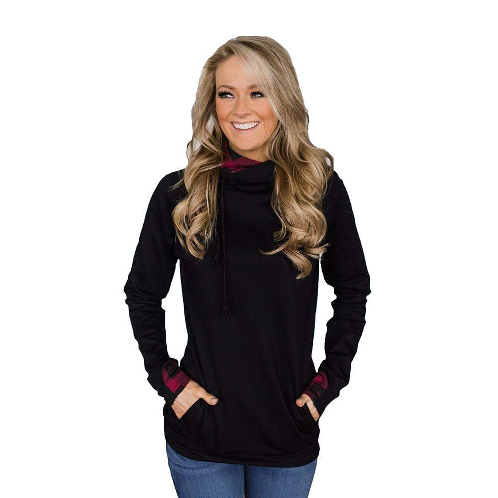 Casual Hoodies Pullover Drawstring Sweatshirts with Pockets - Exlura