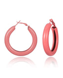 Candy-colored Geometric Round Hollow Earrings