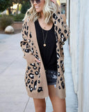 Leopard Print Pocket Cheetah Cardigan