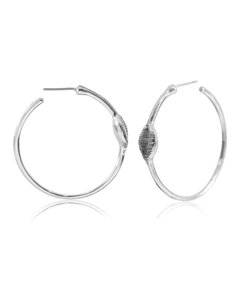Semicircular Shell Earrings
