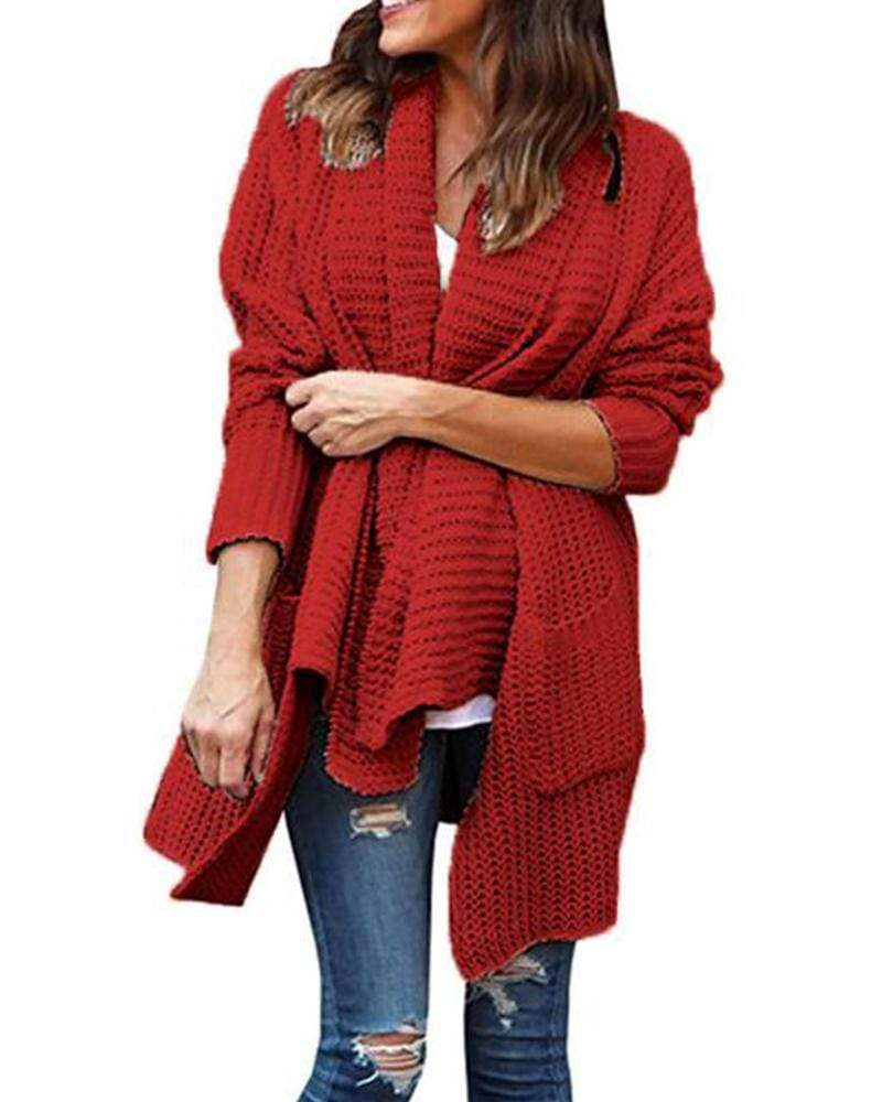 Exlura Oversized Cardigans  Open Front  Sweaters with Pockets