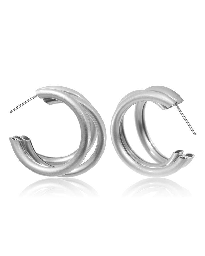 Retro Simple C-shaped Round Earrings