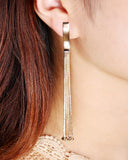 Long Tassel Chain Earrings