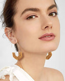 Rattan Straw Lightweight Drop Earrings - Semi-diamond