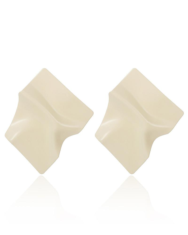 Irregular Fold Geometric Square Earrings