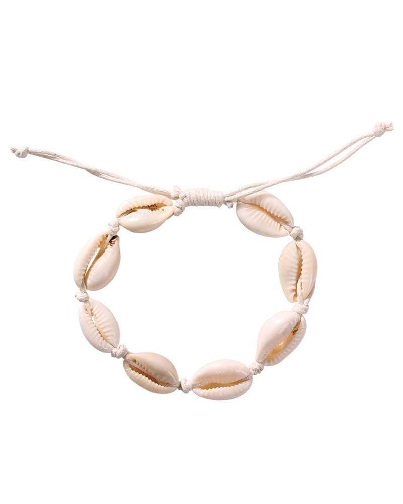 3 Piece Natural Shell Choker Necklace/ 3 Piece Natural Cowrie Beads Shell  Bracelet