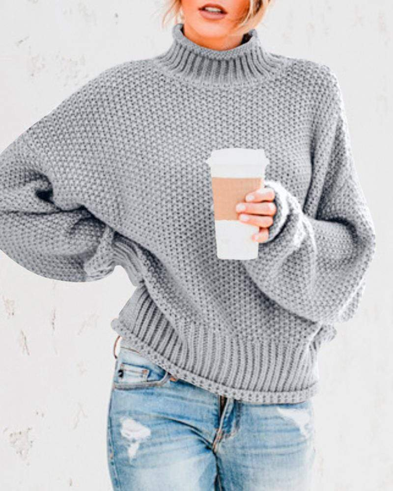 Exlura Chunky Knit Turtleneck Sweaters