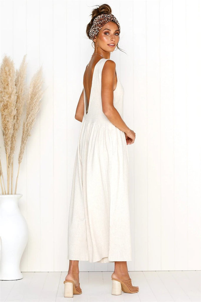 Wild Backless Wide Leg Pocket jumpsuit