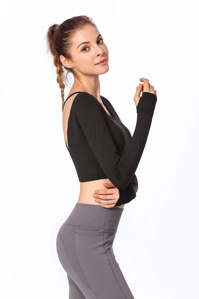 Backless Outdoor Running T Shirt with chest pad