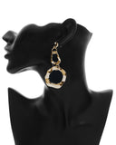 Two Rings Irregular Circle Earrings