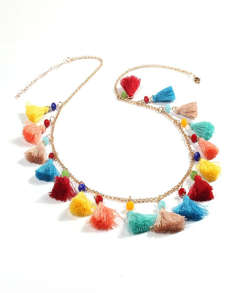 Bohemian Tassel Ethnic Necklace
