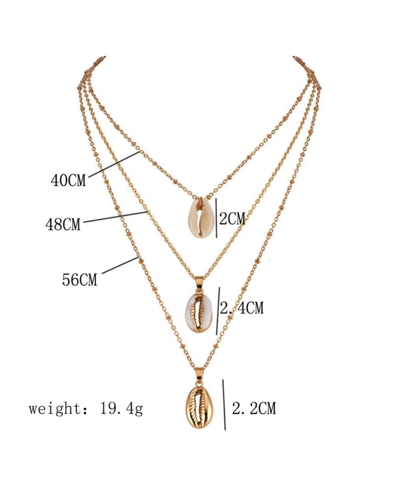 Multilayer Shell Choker Necklace