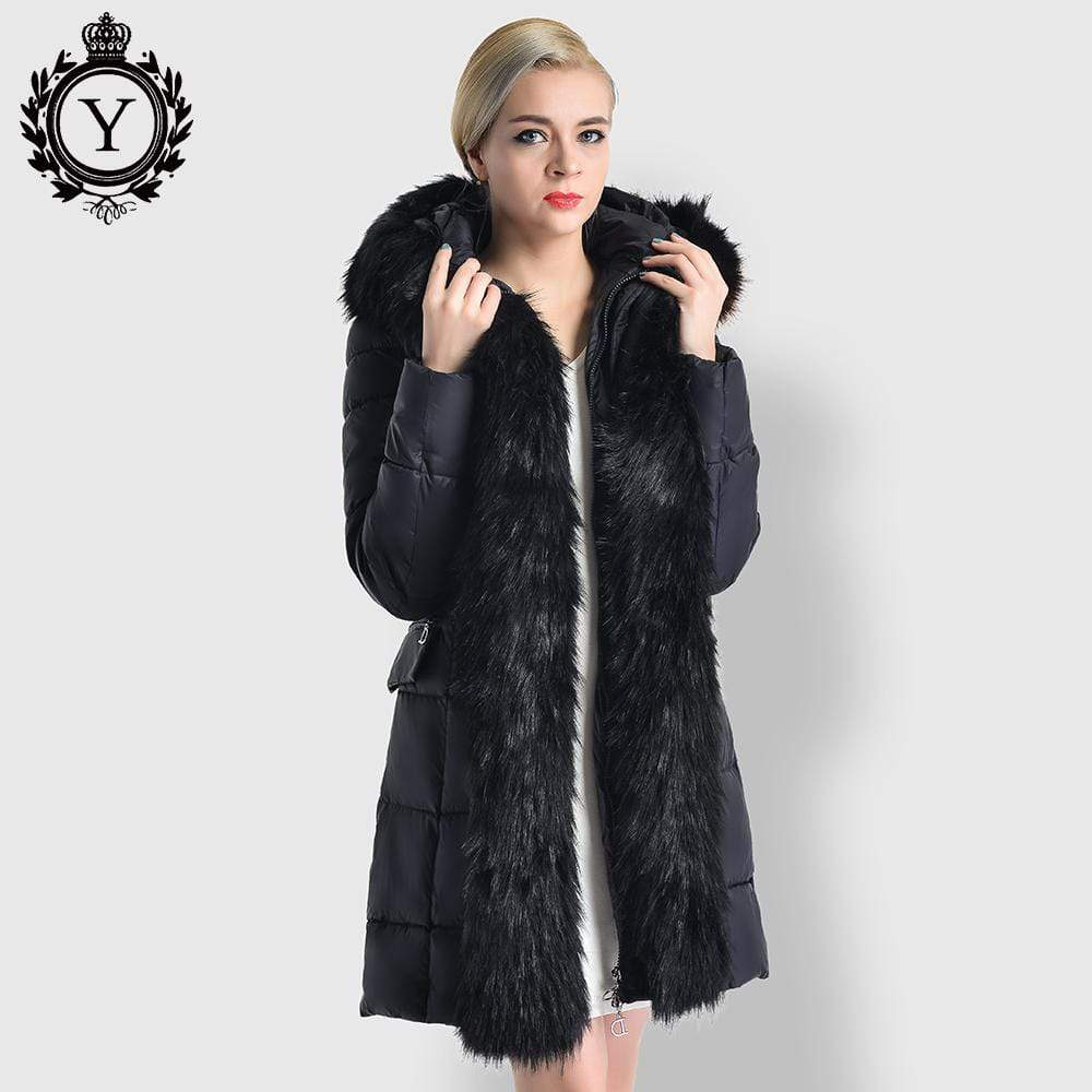 Fur Thick Warm Winter Hooded Coat