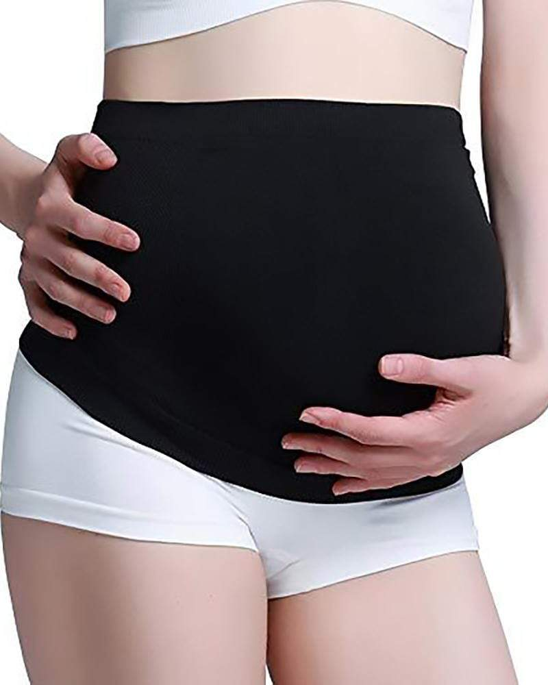 Exlura Maternity Belly Band Seamless Stretchy Pelvic Back Support Bands for Pregnancy