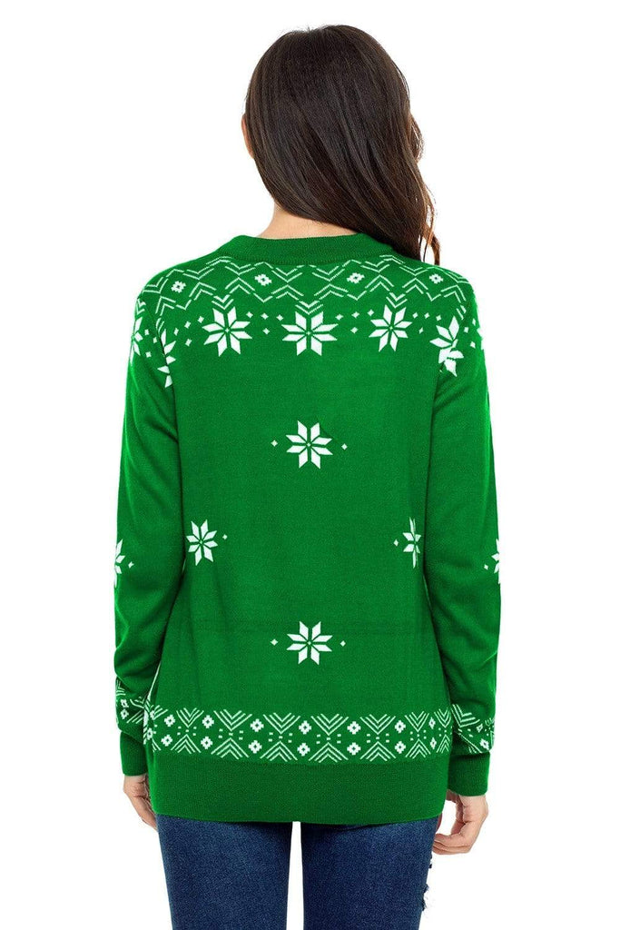 Christmas Snowman Pattern Knitting  Sweater - Exlura