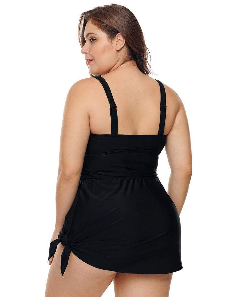 Large Size Covered Belly Swimsuit With Chest Pad