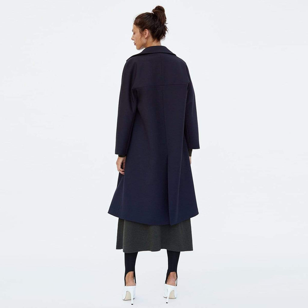 Exlura Double-breasted Lapel Loose Coat