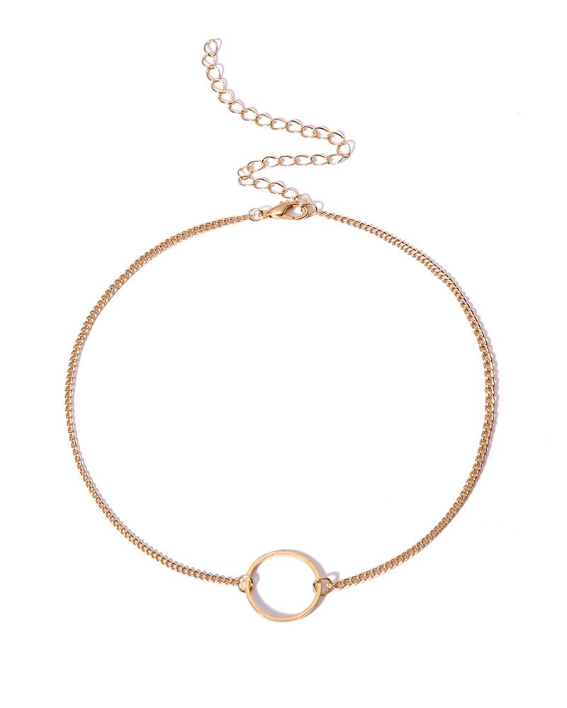 Multi-Layer Decoration Circle Copper Beads Combination Clavicle Necklace